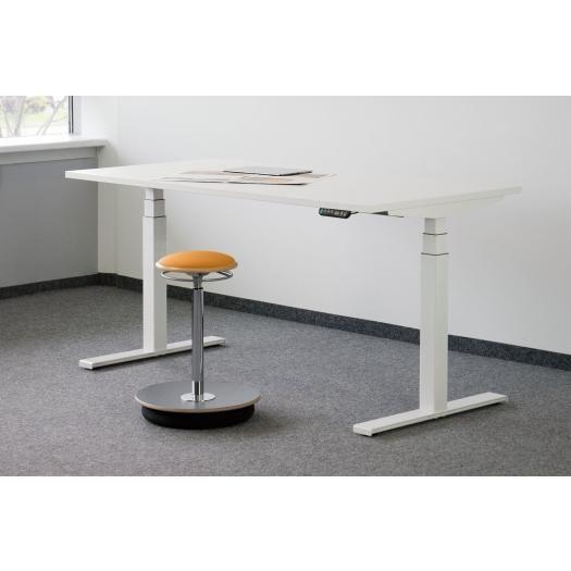 Höhenverstellbarer Schreibtisch eModel Rechteck-Form