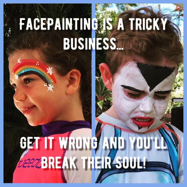 Face painting is a tricky Business to get Right! #seasons #bazaar #Australia #kids #activities #parenting