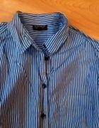 topshop koszula w paski bawelniana   Cena: 5,00 zł  #modnakoszula #uzywanakoszula #granatowekoszule
