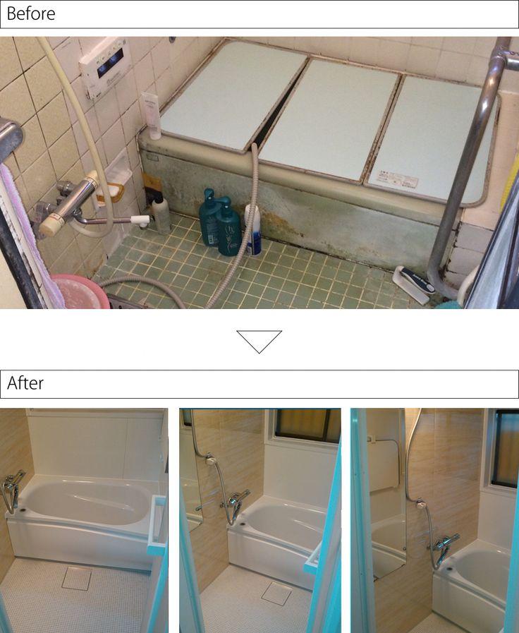 給湯器が壊れたのをきっかけにお風呂も-TOTOひろがるWGシリーズNタイプ1116サイズ | お風呂やキッチンのリフォームならHandyman(ハンディマン)