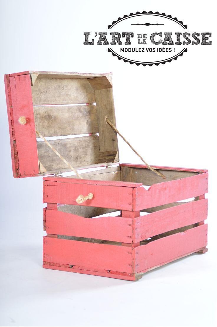 caja de juguetes por el arte del cuerpo 2 cajas + cuerda + bisagra = una bonita caja juegos www.lartdelacaisse.fr