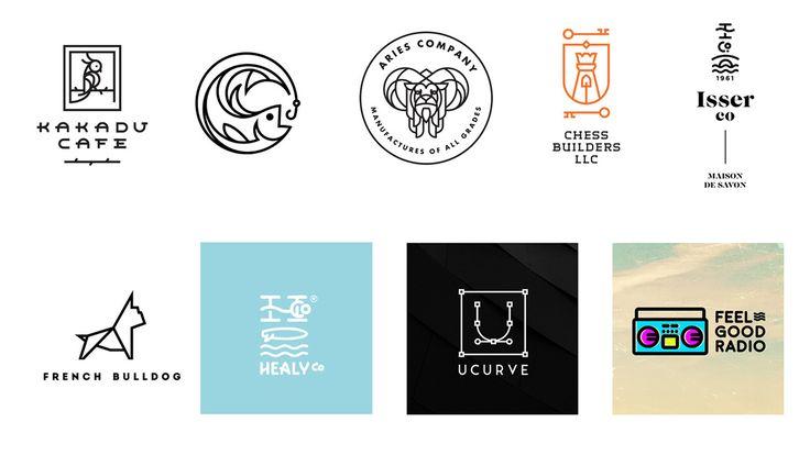 Line Art Logos  |  2017 Design Trends Guide on Behance