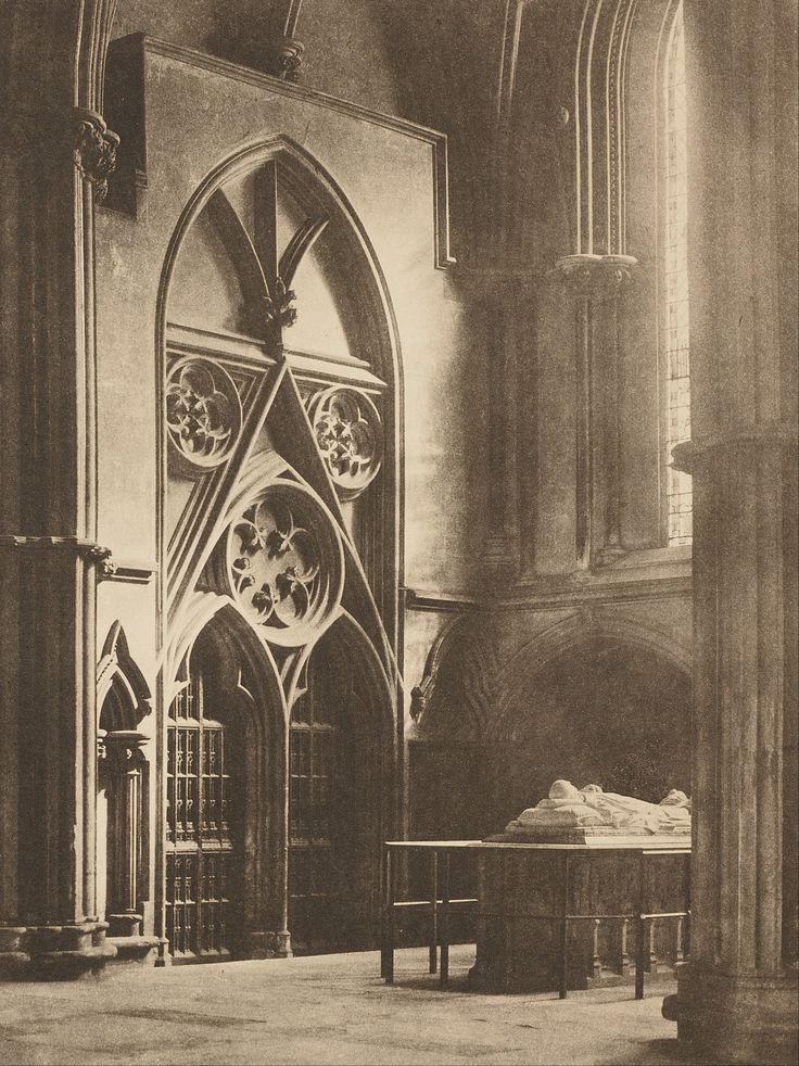 """York Minster: """"In Sure and Certain Hope"""" (1903 - Photogravure) ~ Photography by Frederick H. Evans"""