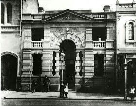 """127 George St,Sydney in 1890, the """"new No. 4 Police Station"""" •Sydney Harbour Foreshore Authority• 🌹"""