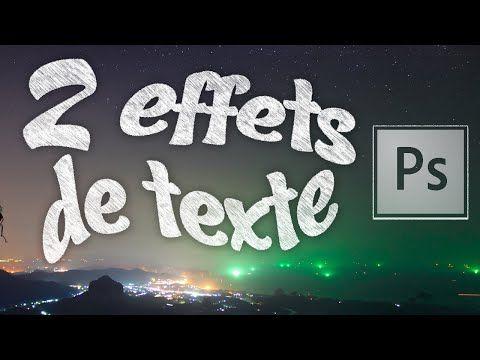 Tuto Photoshop - Réalisation de deux effets de textes (Effet craie & gâteaux) - YouTube