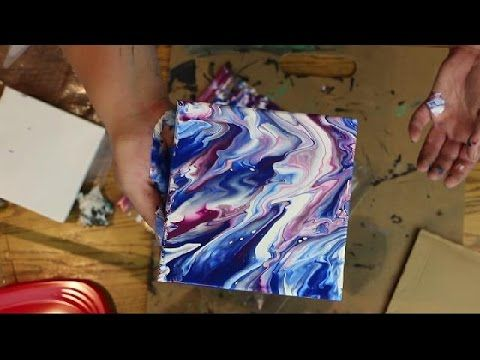 How to Create MARBLE TEXTURE Using ACRYLIC PAINT and WATER (Abstract Painting Technique) - YouTube