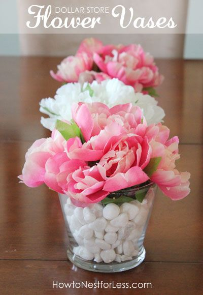 Dollar Store Flower Vase Centerpieces