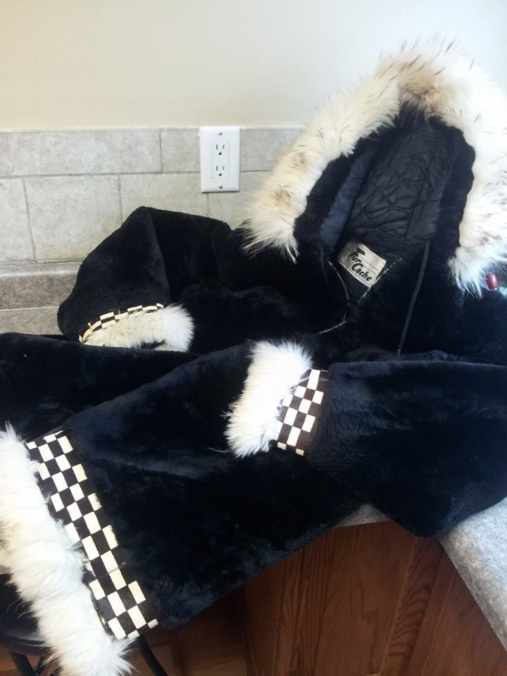 I got this coat at a thrift store for $7.50. It is sheared beaver with arctic fox and seal fur trim! I was telling the cash register girl all about this coat and what it was made from. She thought I was nuts.... This is the closest match I could find, http://www.overland.com/Products/NewNotable-590/HotBrands-1003/OverlandCoats-8405/WomensStarlingShearedBeaverFurParkawithFoxFurTrim/PID-17773.aspx What a bargain!!!!