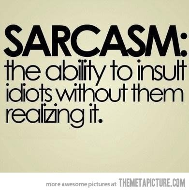 The power of sarcasm