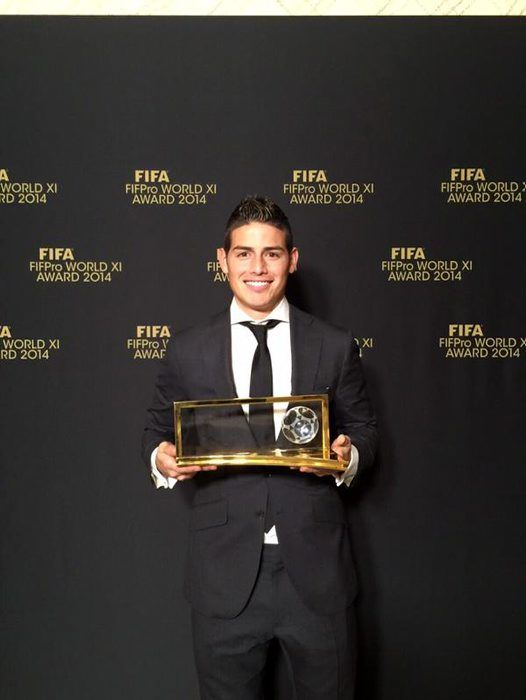 Lo mejor de James Rodríguez en la gala del Balón de Oro