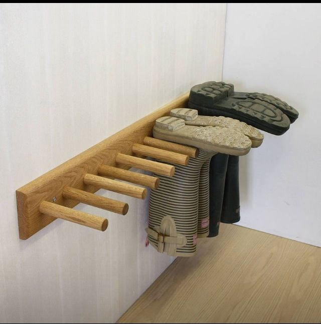 Great boot holder, My Honey Do List! :) That we He wont need to see all My Pairs of Boots sitting around with Magazines rolled up in them!! Lol