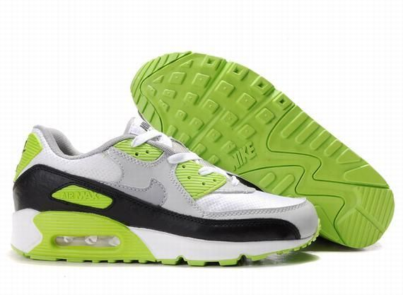 https://www.kengriffeyshoes.com/nike-air-max-90-white-light-grey-black-light-green-p-688.html Only$68.56 #NIKE AIR MAX 90 WHITE LIGHT GREY BLACK LIGHT GREEN #Free #Shipping!