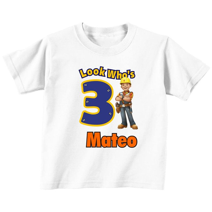 Bob el constructor cumpleaños personalizado camiseta
