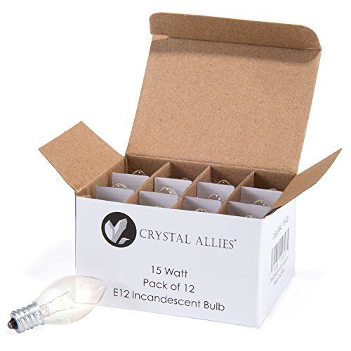 Crystal Allies Long Lasting Incandescent Salt Lamp Bulbs - Pack of 12 - 15 Watt - The Crystal Allies Salt Lamp Bulbs come with a 90-Day Money Back Guarantee. The incandescent bulbs are dimmable and compact and come in a pack of 12 so you can always conveniently replace your bulbs. DISCLAIMER: Crystal Allies and its agents will not be held responsible for any claims for injurie...