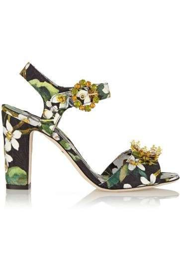 Sandali gioiello Primavera-Estate 2015 - Sandali gioiello multicolor Dolce & Gabbana