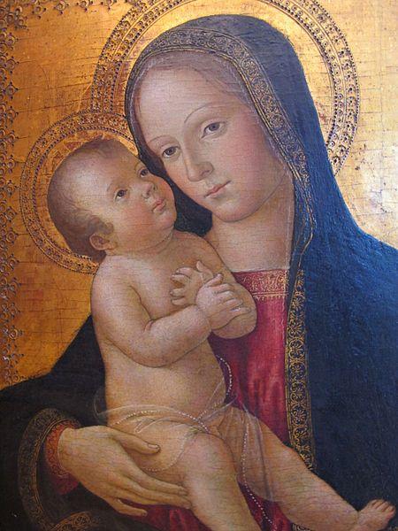 Antoniazzo Romano (1430-1510) ~ Madonna col bambino (Virgin with Child) ~ 1480-85 ca ~ Lindenau Museum ~ Antoniazzo Romano, born Antonio di Benedetto Aquilo degli Aquili  was an Italian Early Renaissance painter, the leading figure of the Roman school during the 15th century.