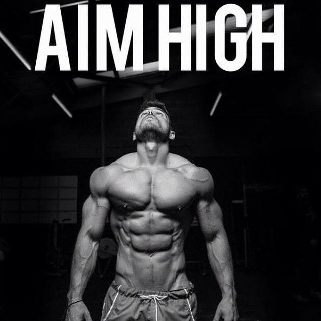 Set your goals high, work hard to reach them.  Let us help you :) www.musclefood.com