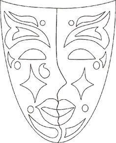 máscaras de carnaval para imprimir grandes