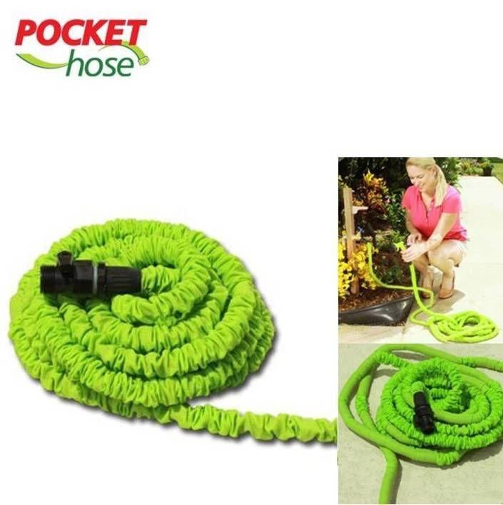 Bekend van TV: Flexiwonder Pocket Hose - Flexible Tuinslang 7,5m