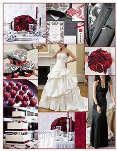 grey and maroon wedding - Google Search