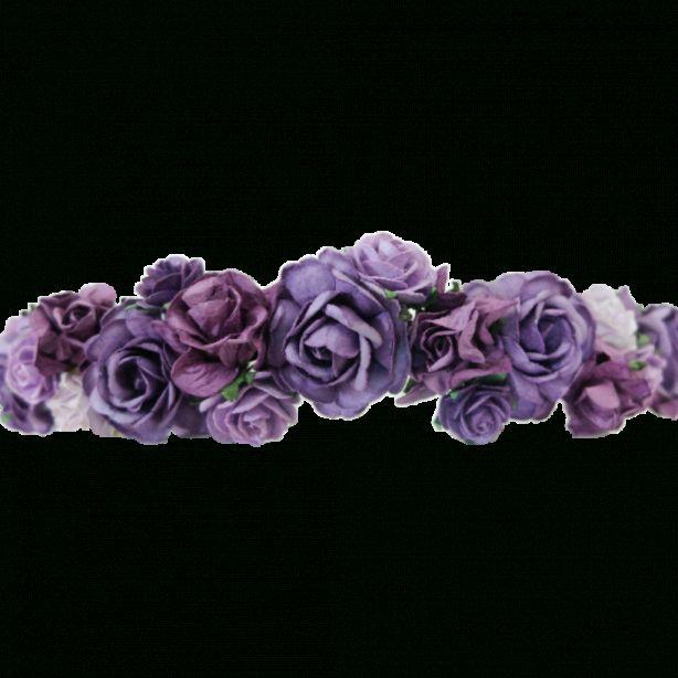 17 Flower Crown Purple Png Black Flower Crown Crown Png Flower Crown Tumblr