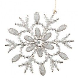 Beautifully designed, even we can't believe this metal and beaded snowflake is just £1 - Amazing Value!