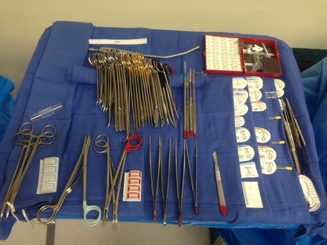 CABG Setup. Mayo stand. Open heart. Cardiac Scrub. Surgical Tech.