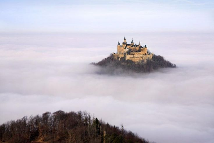 Hohenzollern castle, Germany - This makes me wish flying/floating castles of fantasy exist. SO amazing!
