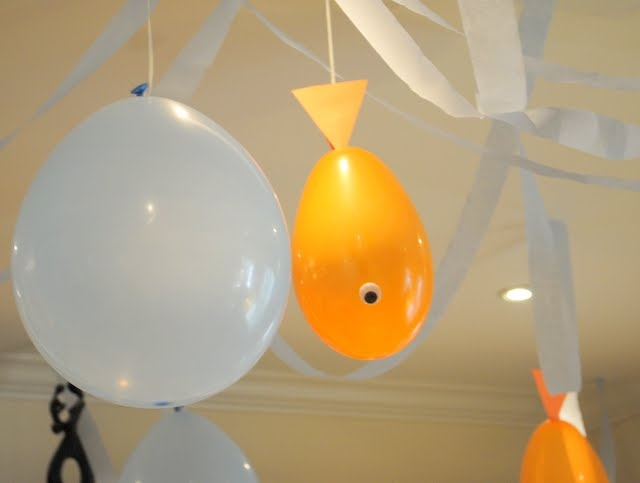 goldfish balloons...when we do a thematic unit on the sea!