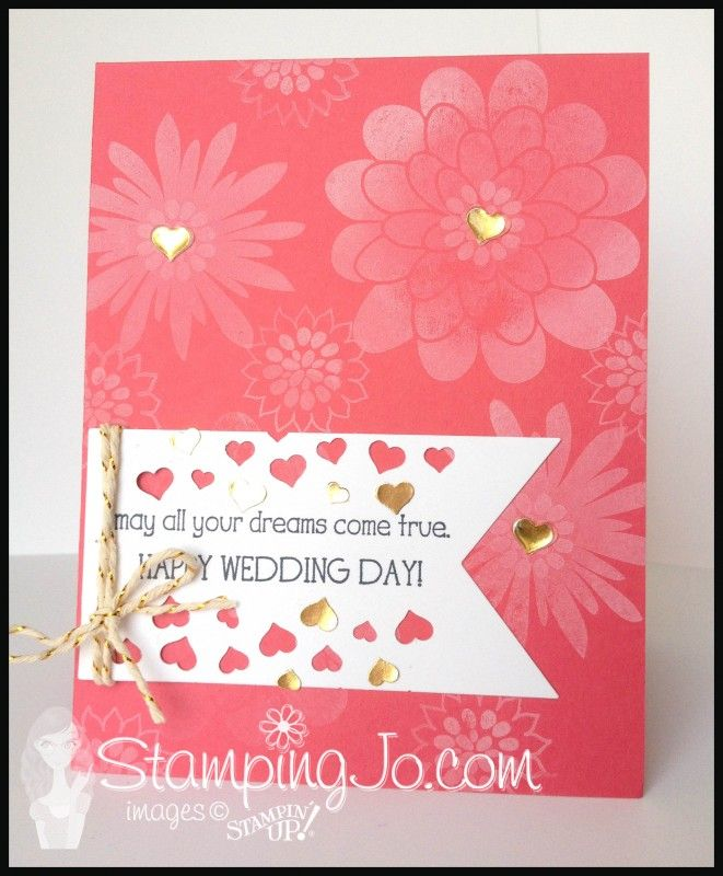 StampingJo Big News Flower Patch wedding card