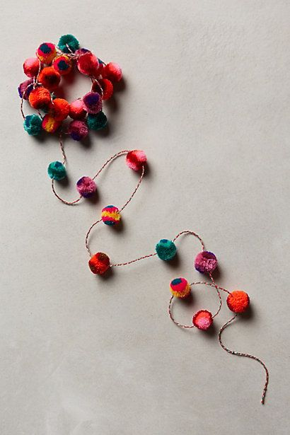 Anthropologie Pompom Gift Ribbon #anthrofav #greigedesign