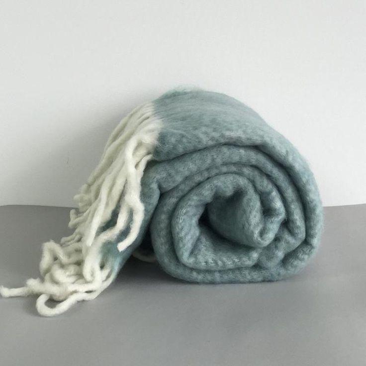 Bliss Mohair Blend Throw - Teal Blue #worthynzhomeware wwworthy.co.nz