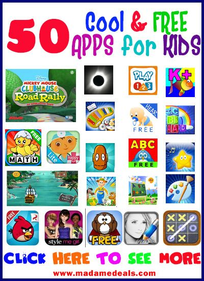 50 Cool & FREE APPS for KIDS