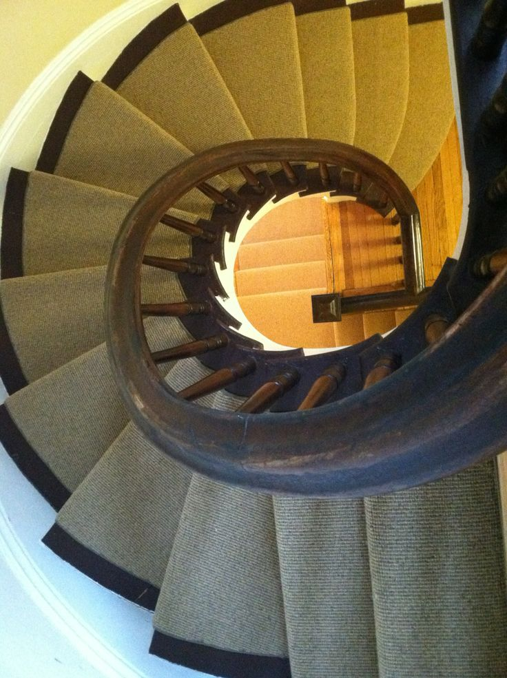This Woven Wool Carpet Remnant Was Fabricated And Installed As A Stair  Runner By The Carpet