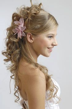 Pretty hair do for a Quinceanera.     CaterByDesign.com