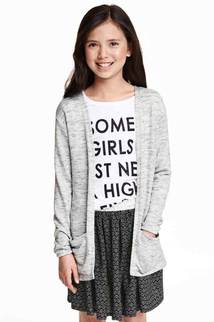 Cardigan tricotat fin | H&M