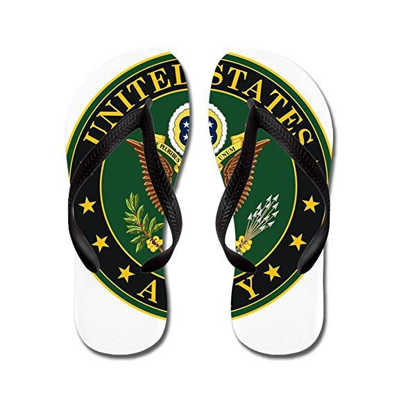 Cafepress Us Army Symbol Flip Flops Funny Thong Sandals Beach