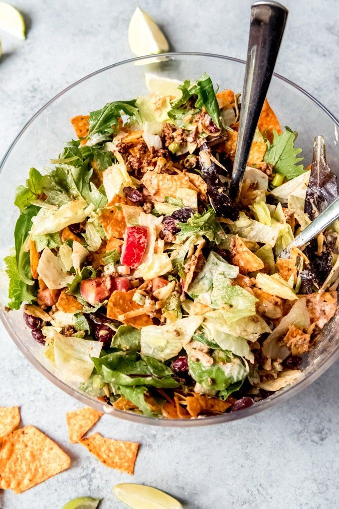 Tex Mex Doritos Taco Salad In 2020 Taco Salad Doritos Doritos