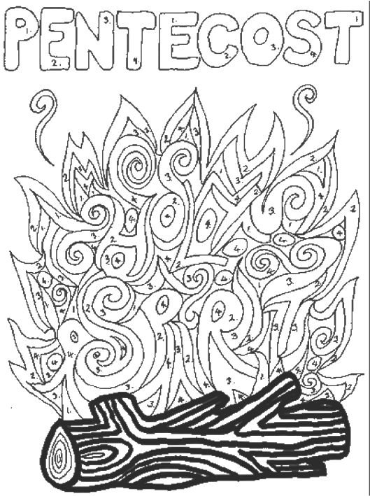 free coloring pages about pentecost - photo#7