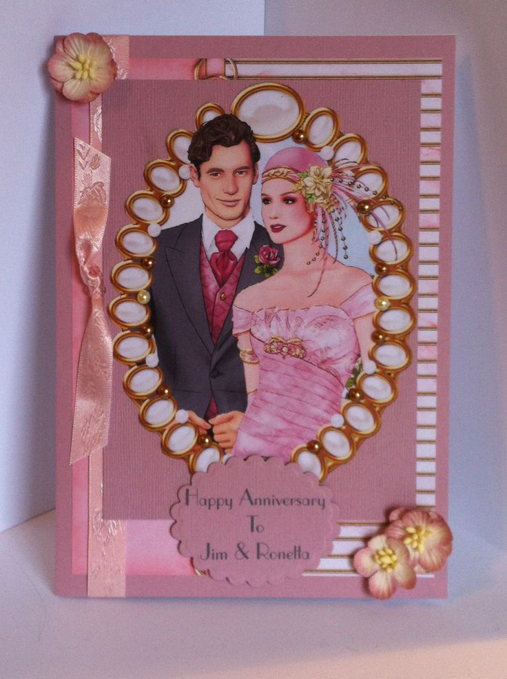 anniversary card using Debbie Moore CD's