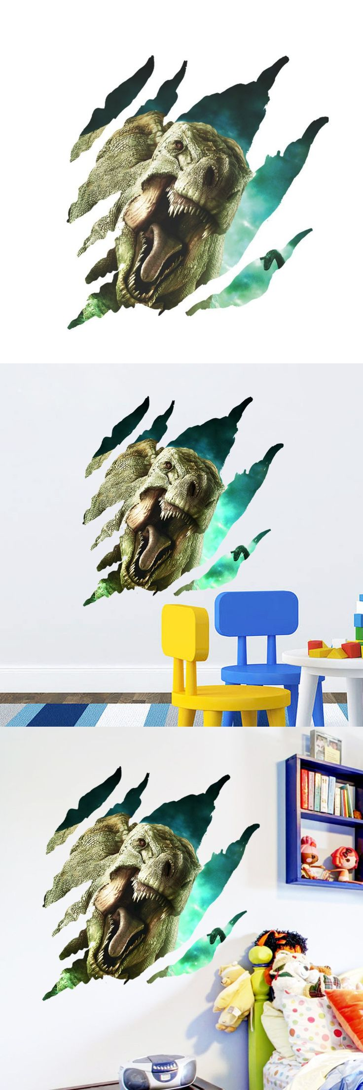 best 25 dinosaur wall stickers ideas on pinterest dinosaur wall 3d jurassic park dinosaur wall sticker kids room bedroom backdrop wall stickers home decor sticker
