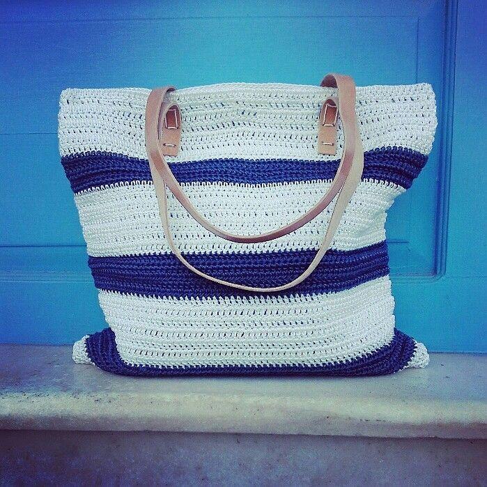 Shoulder Bag // Polyester Cord // Leather Straps