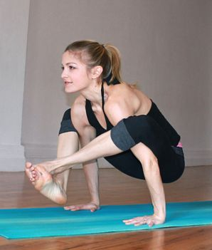Repin if you've mastered the shoulder press pose. Good for the core & gorgeous arms!