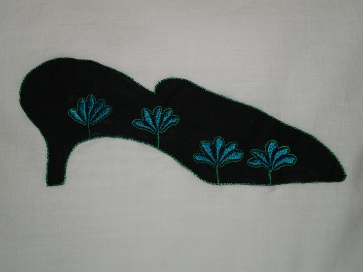Detail of Shoe Cushion by Inge Andrew