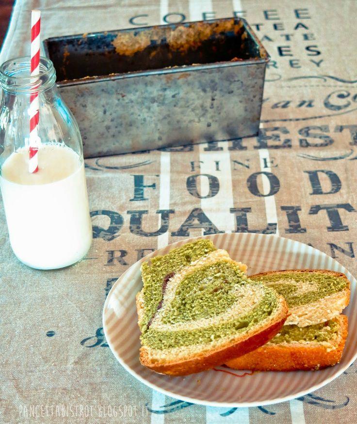 Pancetta Bistrot - ricette creative dall'Italia e dal mondo: Pan brioche variegato al matcha e anko