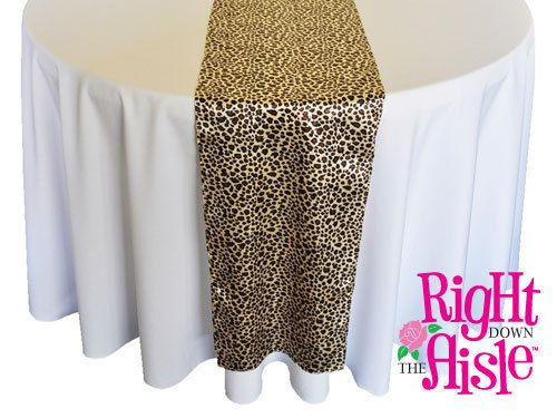 Leopard 14 x 108 Satin Wedding Table Runner by RightOnTheWalls, $10.00