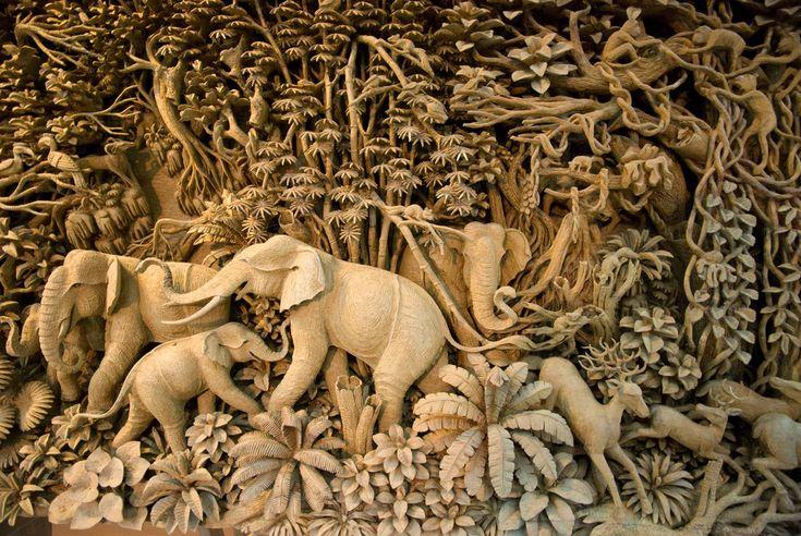 Thai Wood Carving   von Imaginisca