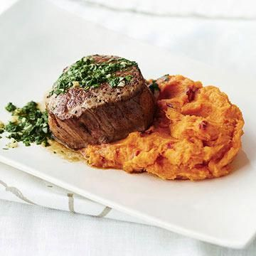 Petite Tenderloin with Chipotle Sweet Potatoes for Two #myplate