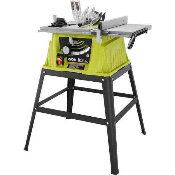 Table Saws: Ryobi Table Saws & Components 10 in. 15 Amp Table Saw RTS10G