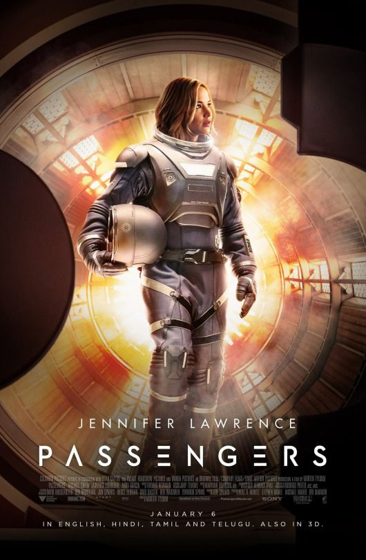 "New poster of Jennifer Lawrence for ""Passengers"""